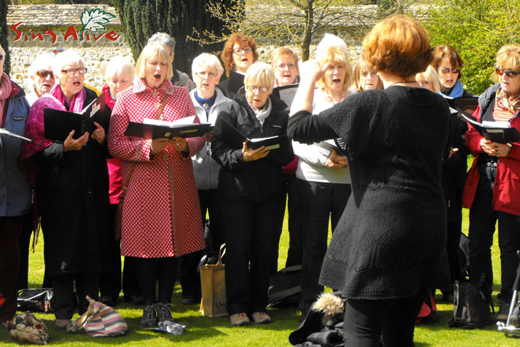 Sing-alive choir & workshop - St. Mary Devizes 31st May 2014