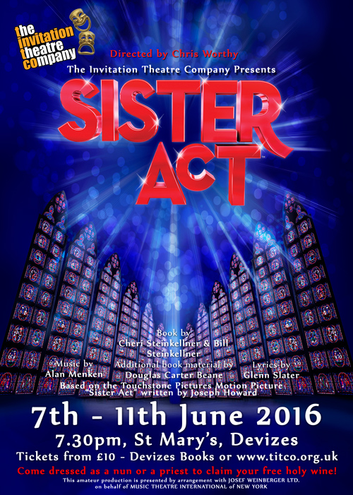 Sister Act at St. Mary's Church - web poster
